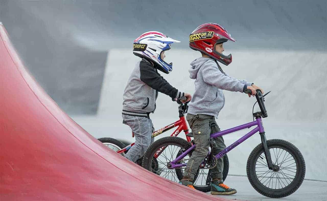 kids on bmx bikes