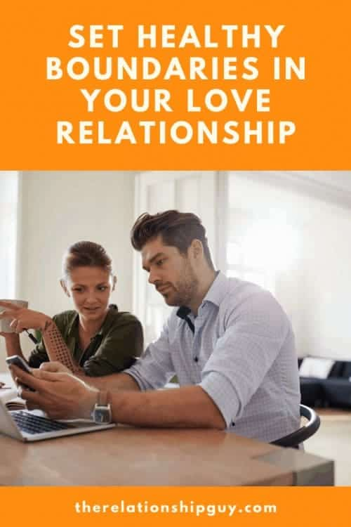 set healthy boundaries in your love relationship pinterest pin